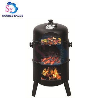 Wholesale price portable Three Layers japanese ceramic Charcoal BBQ Grill/black rectangular smoky oven/Mountain Cooker smoker