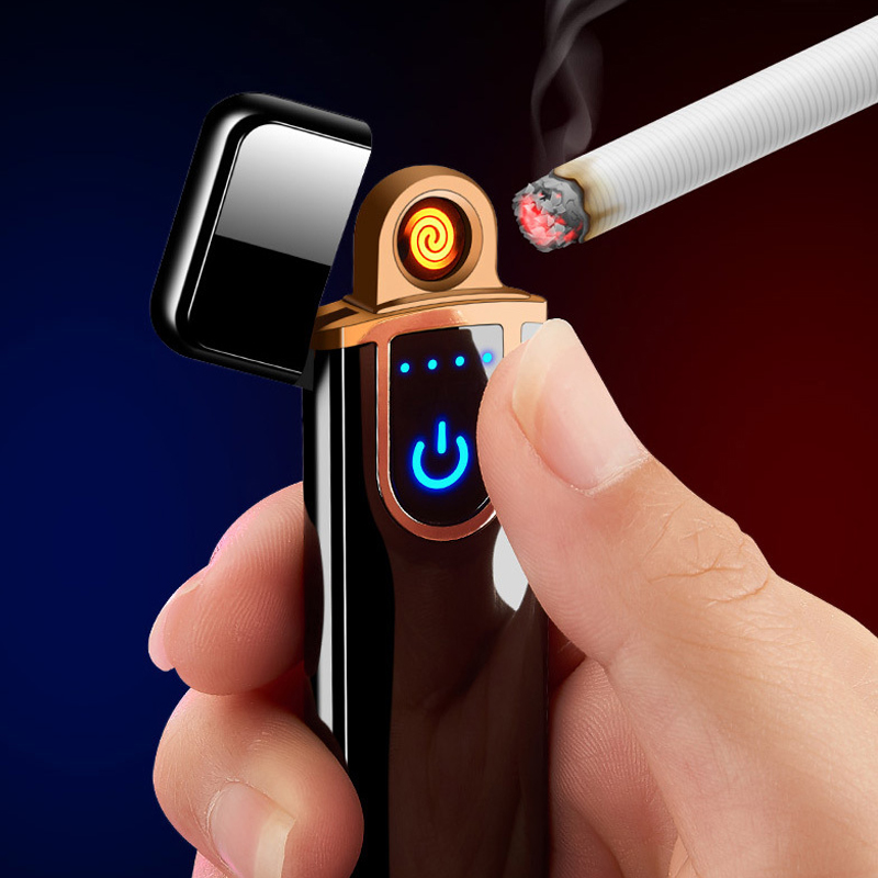 USB lighter electronic Mini Lighters cigar metal windproof for men gadgets mens gifts for cigarette accessories