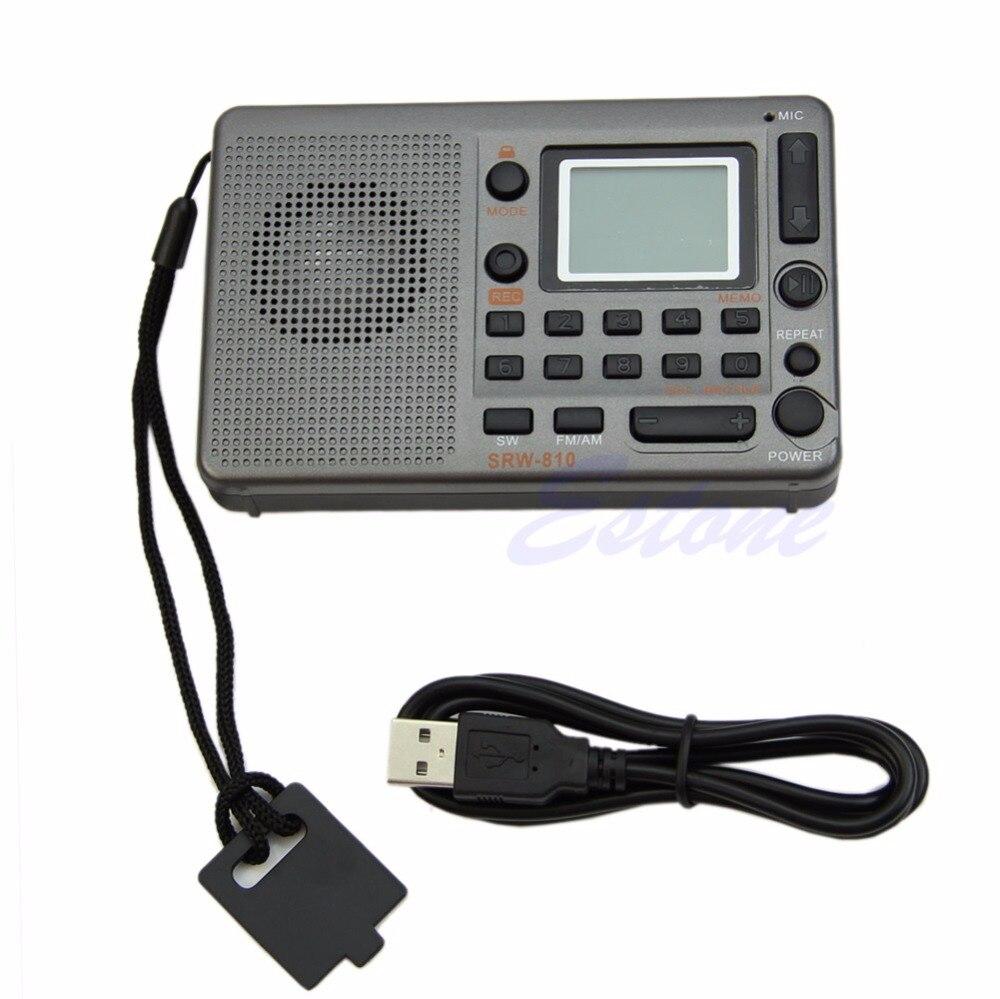 Portable Numérique Tuning LCD Récepteur TF MP3 Lecteur FM AM SW Pleine Bande Radio New