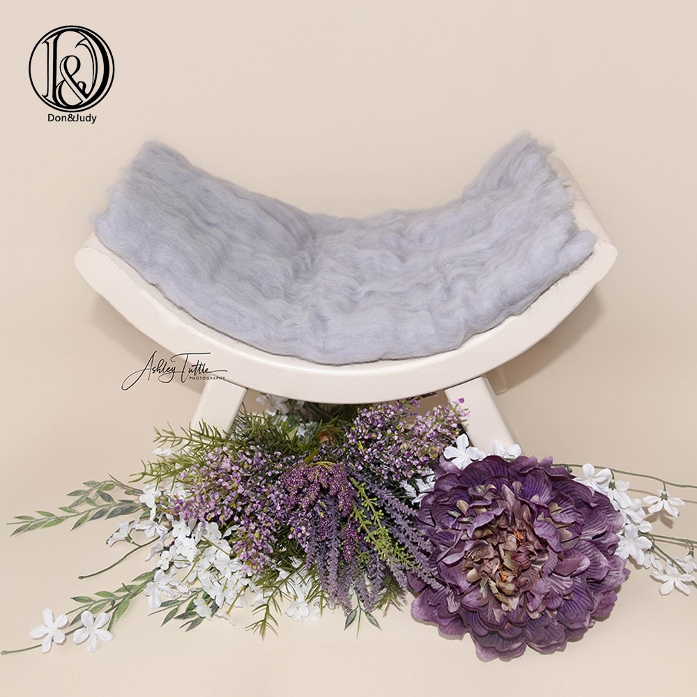 Don&Judy 100% Wool Fleece Fluffy Newborn Photography Blanket Baby Blanket Newborn Posing Backdrop Soft Basket Filler Baby Shower