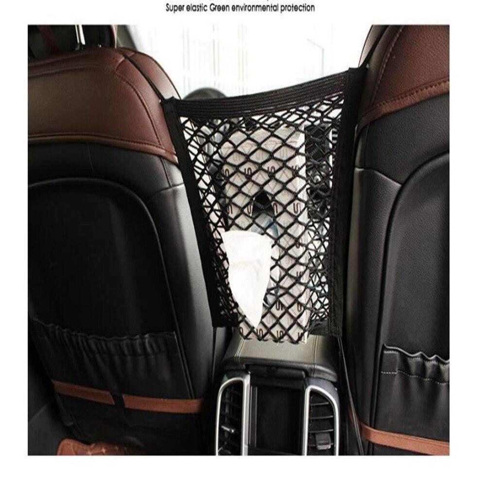 Car Organizer Seat Back Storage Mesh Net For Volkswagen VW POLO Golf 4 Golf 6 Golf 7 CC Tiguan Passat B5 B6 Jetta Mk5 MK6