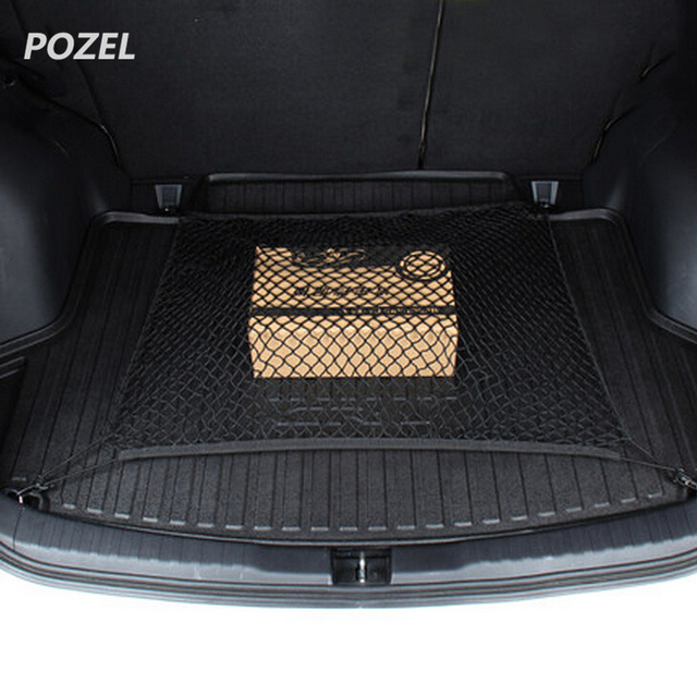 CAR TRUNK CARGO MESH NET FOR  HYUNDAI IX35 Solaris For Skoda Opel Mokka  kia sportage for audi a4 b8 volvo
