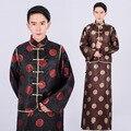 Ropa Tradicional de Los Hombres chinos de Estilo Retro Vestido Largo Robe Chino Rico Hombre Bata Ropa Del Propietario En la Antigua China