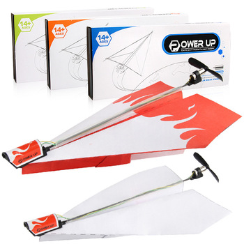 Children's toy motor electric paper airplane model folding DIY paper Power Toys Airplane Rc Folding Motor Power Red Rc Plane 1