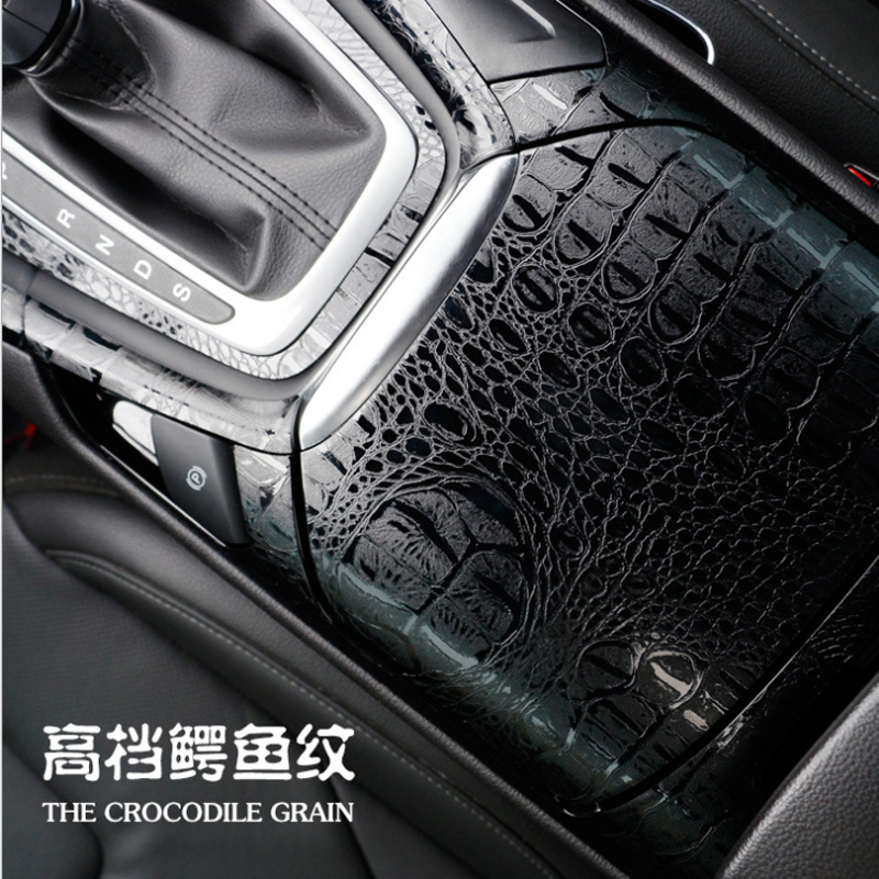 3D Car Simulation Snake Faux Crocodile Skin Leather Sticker Film Crack Design Interior Decoration Motorcycle Car Styling ORINO-in Car Stickers from Automobiles & Motorcycles