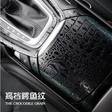 3D Car Simulation Snake Faux Crocodile Skin Leather Sticker Film Crack Design Interior Decoration Motorcycle Car Styling ORINO