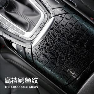 Image 1 - 3D Car Simulation Snake Faux Crocodile Skin Leather Sticker Film Crack Design Interior Decoration Motorcycle Car Styling ORINO