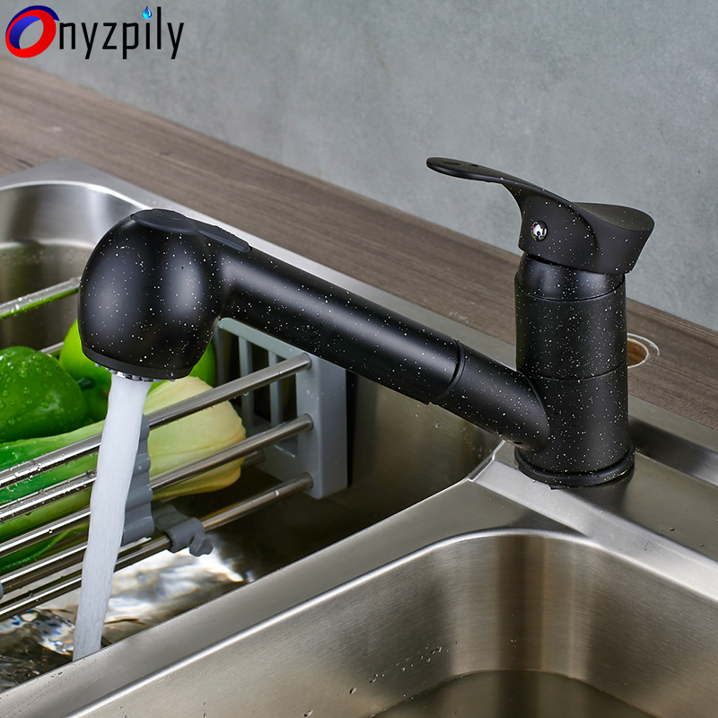 Pull Out 360 Swivel Kitchen Faucets Pull Out Kitchen Sink Mixer Crane Water-Saving Beige Basin Hot and Cold Water Tap torneira цена