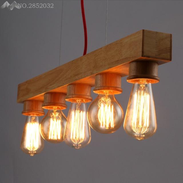 aliexpress koop nordic vintage hout hanglampen home