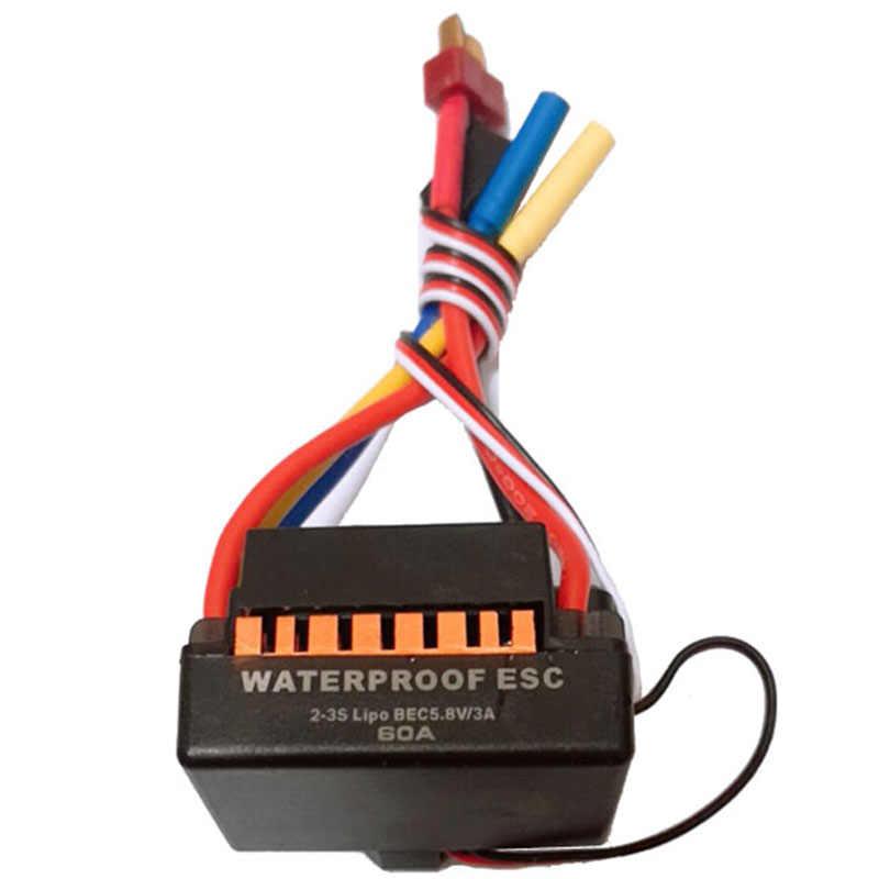 Impermeable 60A Rc sin escobillas Esc Bec piezas de coche eléctrico con controlador de velocidad 5,8 V 3A Bec para coche 1/10 Rc camión