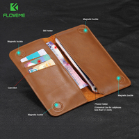 5 5 General Classic Flip Wallet Genuine Leather Pouch For Huawei AscendP6 P7 P8 Mate S