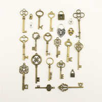 10pcs 2019 Fashion Jewelry Making Home Love Key Lock Jewelry Findings Components Charm Pendant
