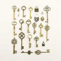 10 pçs 2019 moda jóias fazendo casa amor chave de bloqueio jóias achados componentes pingente charme