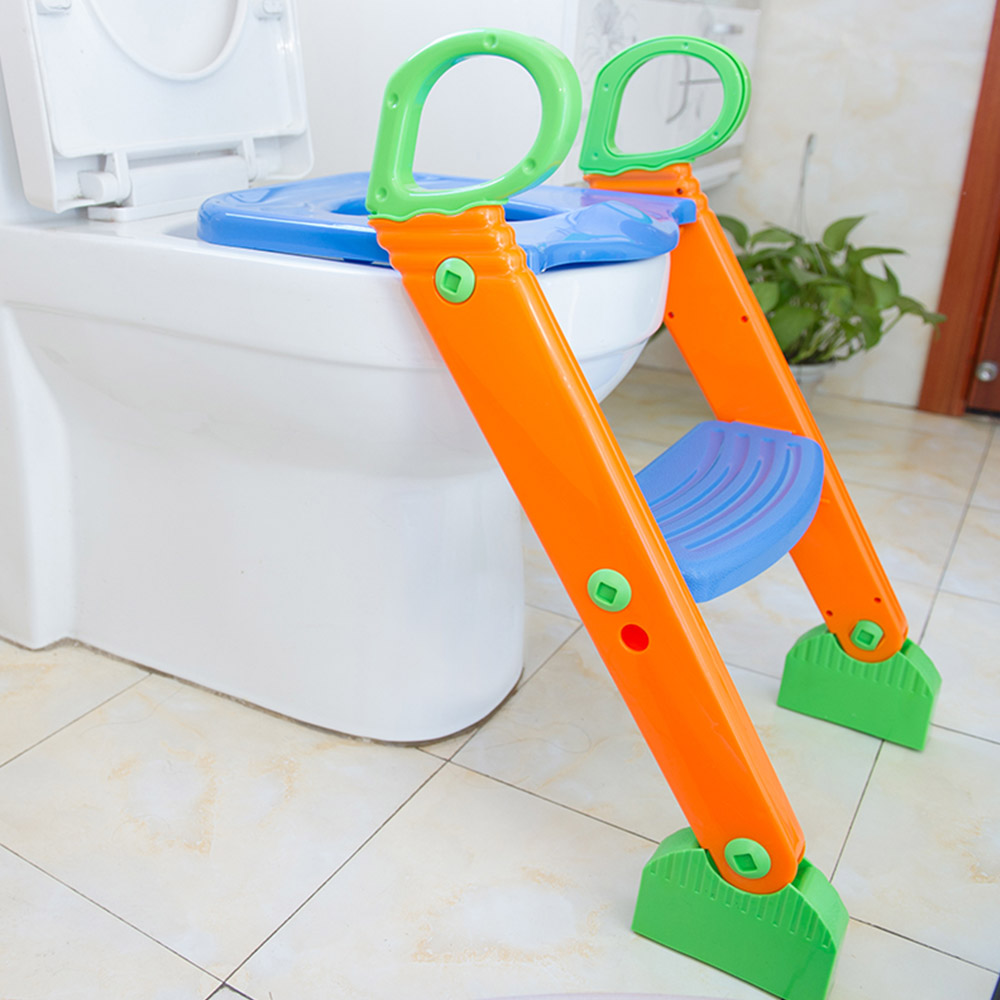 Baby Toilet Seat Children Folding Potty Training Seat Chair Step Kids With Adjustable Ladder Child Potty Seat Toilet цена