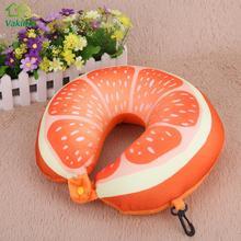 CV 3D Fruit U Shaped Pillow Cushion Nanoparticles Neck Protection Pillow