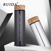 RUIDA ins Insulate Thermos Tea Mug with Strainer Thermo Travel Coffee Cup Stainles steel thermal Bottle Vacuum Flask