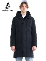 Pioneer Camp new men winter jacket brand clothing long warm thick male winter coat high quality parka for men AMF801456