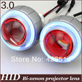 3'' inch  35w HID Bi-xenon  Projector Lens 2.5mm CCFL Angel Eye+ Devil Eye hid xenon bulb 4300k 5000k 6000k 8000k for headlight