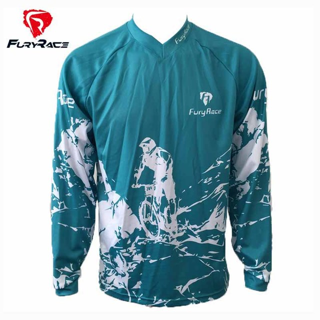 FURY RACE 2017 Long Sleeves Racing Bike Clothing Motorcycle Downhill  Jerseys MX Mountain Bike MTB Clothes BMX Motocross T Shirts f8b2c36ee