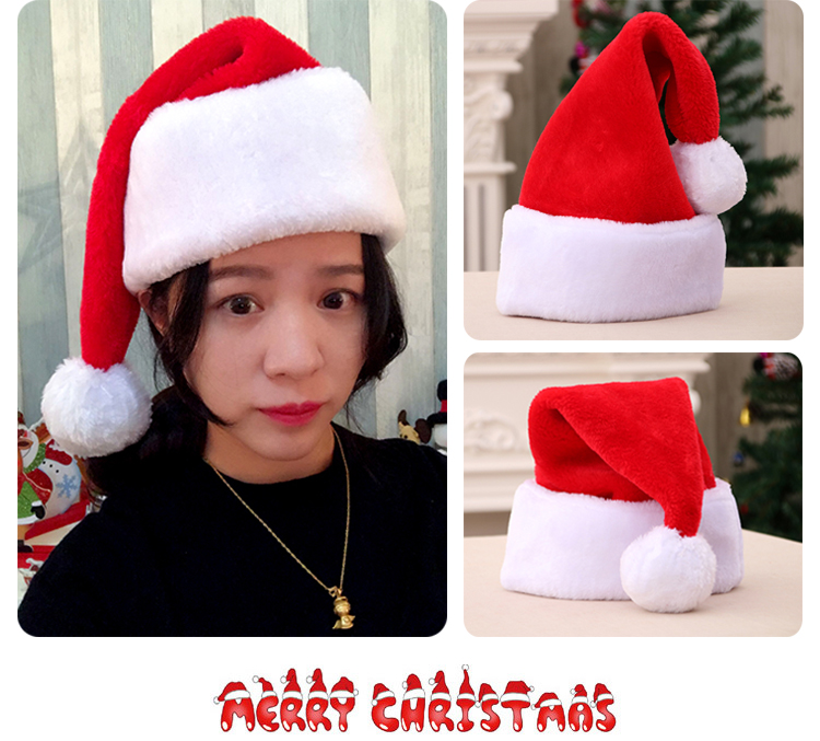 Merry Christmas Hat Santa Cosplay Prop Cotton Cosplay Props Fans Girl Friend Gift Collection Gift Drop Ship