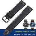 Универсальные кожаные часы-авиаторы Mark little prince IW327004/377714  20 мм