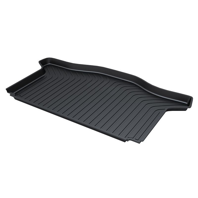 for Honda JAZZ Trunk Tray Mat TPO Waterproof Anti-Slip Car Trunk Carpet  Luggage Cover Black for honda jazz trunk tray mat premium waterproof anti slip car trunk carpet in heavy duty black