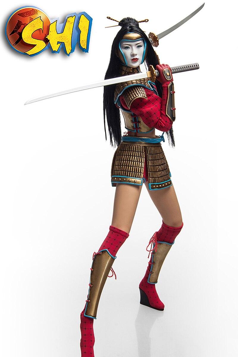 Pour Colelction 1/6 échelle ensemble complet PL2014-71-C Kunoichi SHI modèle de figurine d'action avec deux têtes dans l'armure de combat pour les cadeaux des Fans - 6