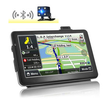 GPS Navigation Android 7 inch DVR Cam Car rear view camera Bluetooth WIFI Quad-core Truck vehicle gps Russia/Europe Two cameras