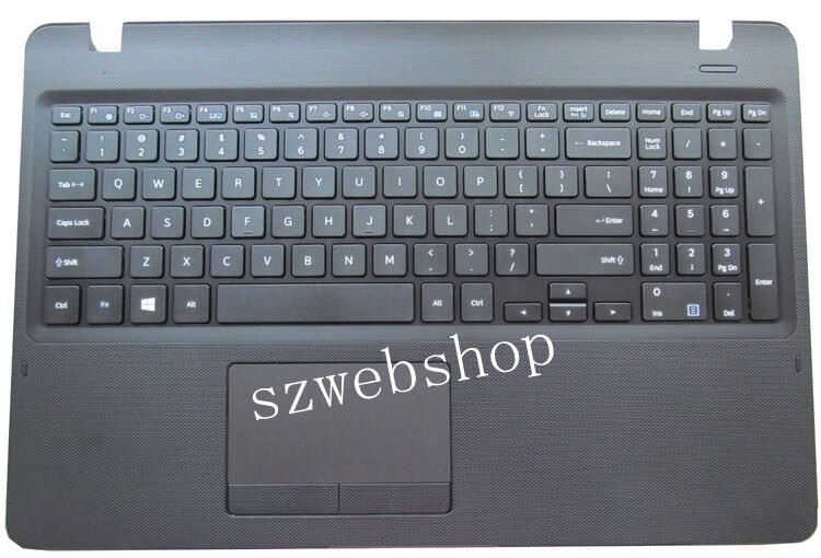 New for Samsung 300E5K NP300E5K palmrest English US laptop keyboard touchpad cover black