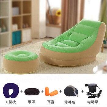 Fotelja i tabure  na napuhavanje!!Ekstra mekani krevet s podnožjem  110cm * 95cm * 76cm 1
