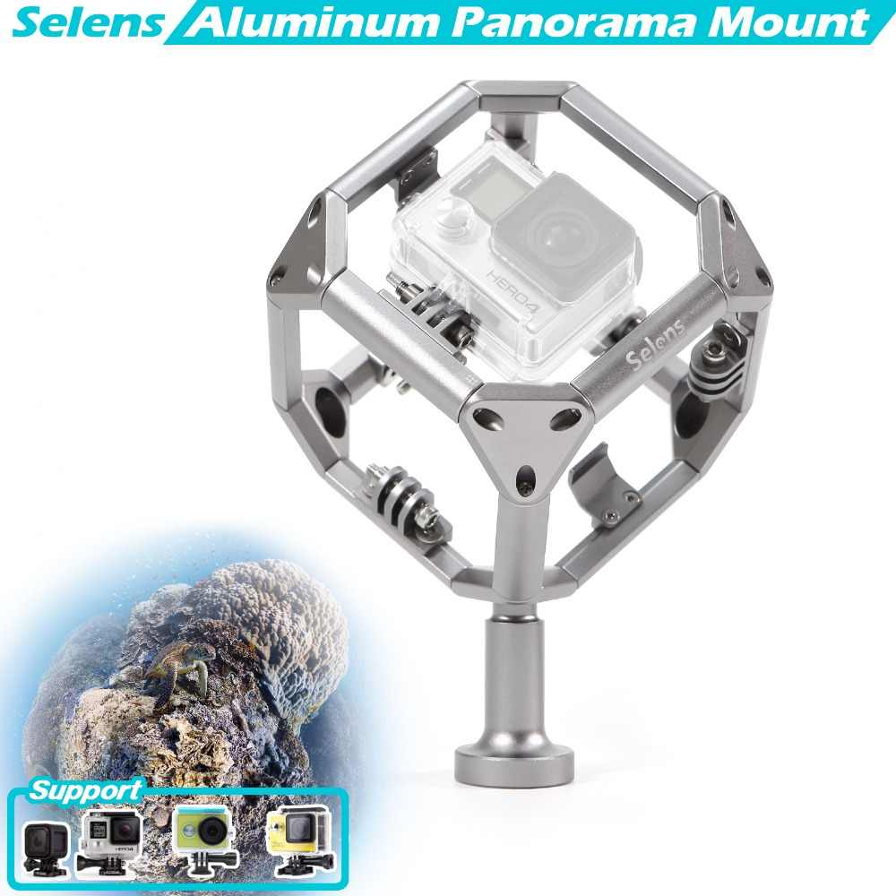 Selens Aluminum Spherical Video Diving 720 Panorama GoPro Omni Holder for VR Filming Xiaomi Yi Action Camera Sjcam Sj5000 EKEN