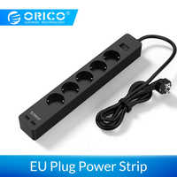 ORICO 3/5 AC+2 USB Power Strip Electronic Socket Home Office Surge Protector EU Plug hargers Extension Smart Socket Wall Charger