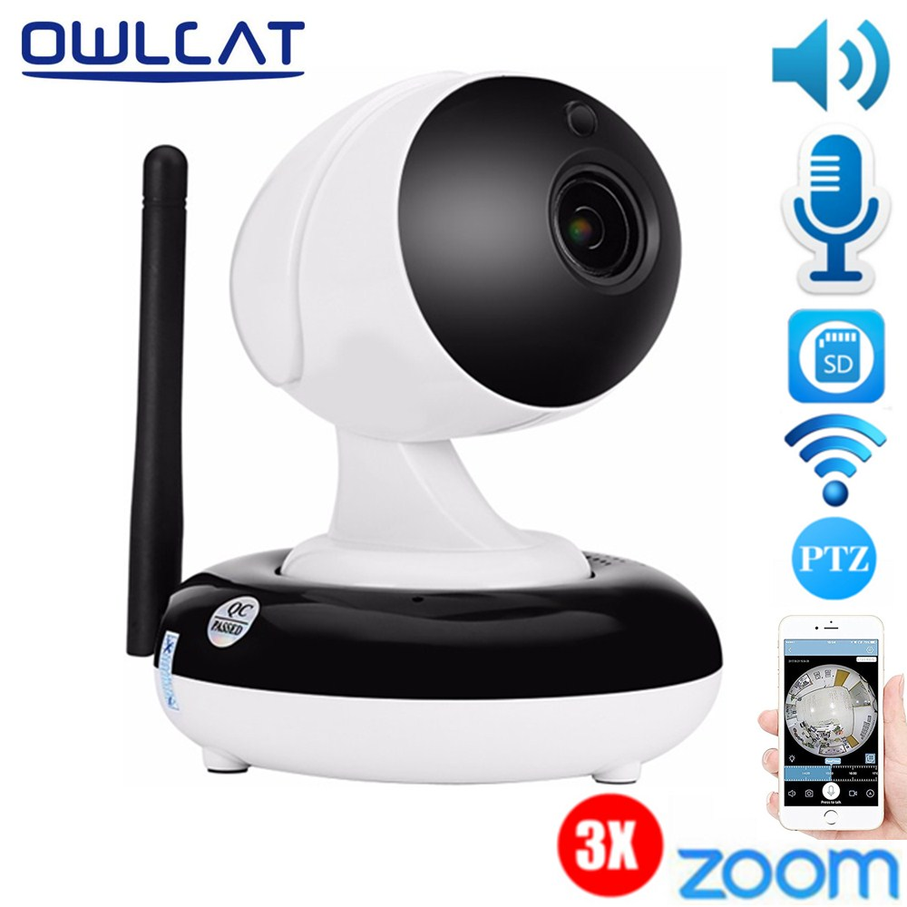 OwlCat 1080P 960P IP Camera Wireless 3X Zoom Home Surveillance Security IP Camera Wifi Night Vision IR-Cut Support 128G TF Card new surveillance ip camera pan tilt p2p ir night vision motion detection wireless wifi indoor home security support 64g tf card