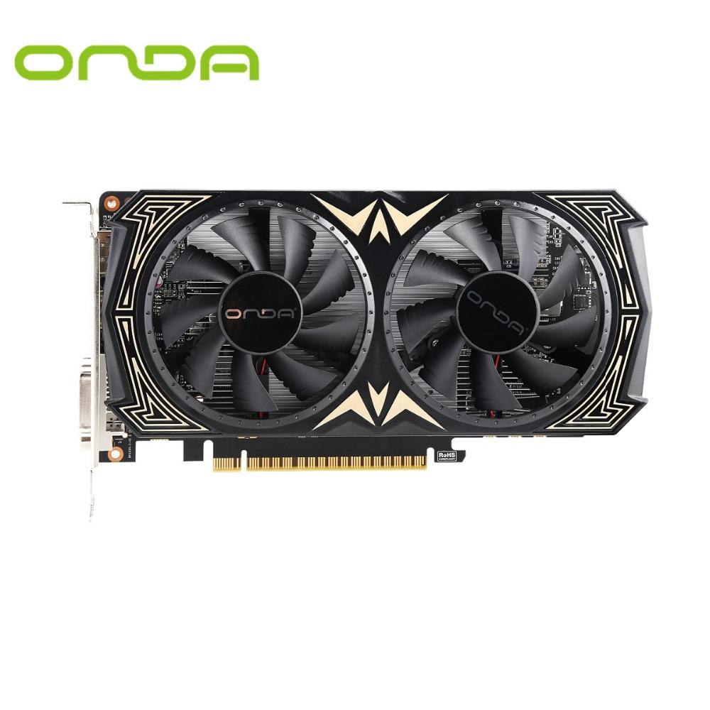 Официальный Onda NVIDIA GTX1050 2 ГБ GDDR5 128bit Графика карты с HDMI + DP + DVI и два вентилятора охлаждения видео карты