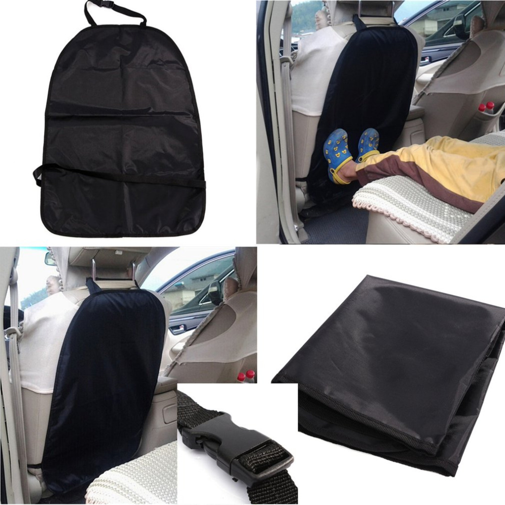 Black Car Seat Back Protector Cover Kids Children Kick Mat Easy Cleaning Car Styling Tool Car Vehicle Accessories