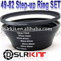 Aluminum rings set!49mm-52mm-55mm-58mm-62mm-67mm-72mm-77mm-82mm Rings SET+Free Shipping
