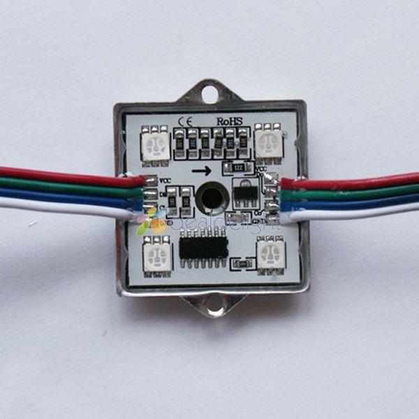 20 PCS WS2801 módulo de LED 5050 RGB SMD 4 LEDS luz brilhante Super impermeável DC 12 V 256 cinza frete grátis