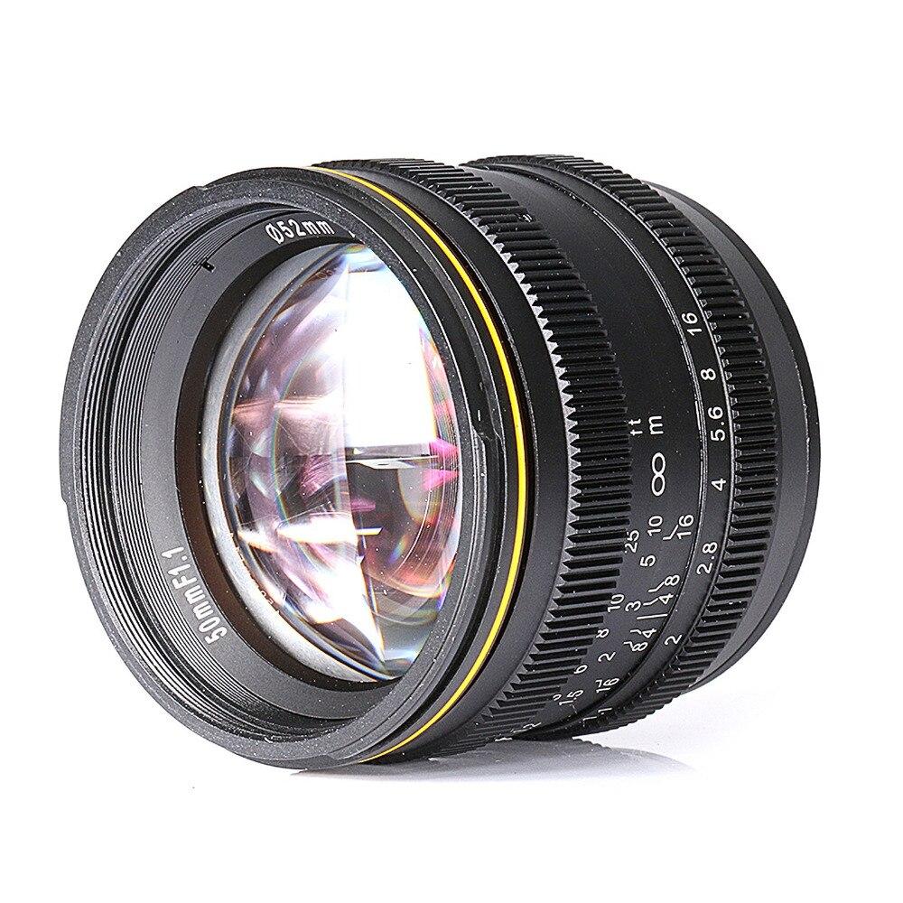 new for Kamlan 50mm F1.1 APS-C Large Aperture Manual Focus Lens for Sony E-Mount camera 50mm f2 0 aperture manual focus lens aps c for eosm nikon1 m43 sony e mount nex3 5t 6 7 a5000 a6000 a6300 fuji xt1 camera