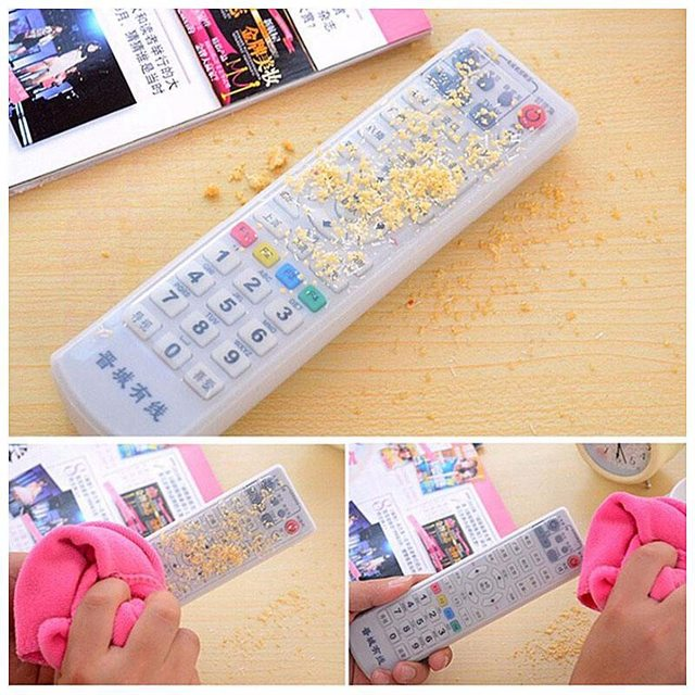 Silicone Storage Bag TV Remote Control Protective Case Dust Protective Holder Waterproof Perfect For TV Household Home Supply
