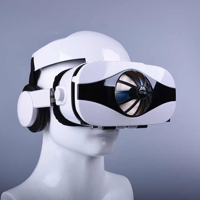 Fiit VR 5F headset version Fan cooling virtual reality glasses 3D glasses Deluxe Edition helmets smartphone Optional controller 5