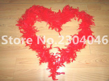 Beautiful red 2 meters long (38-40 grams) decoration feather garment accessories wedding DIY fire feather fire tablets