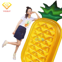 Inflatable Pool Toy Summer Holiday Float Island Inflatable Pineapple Water Float Raft Bed Leisure Chair Air