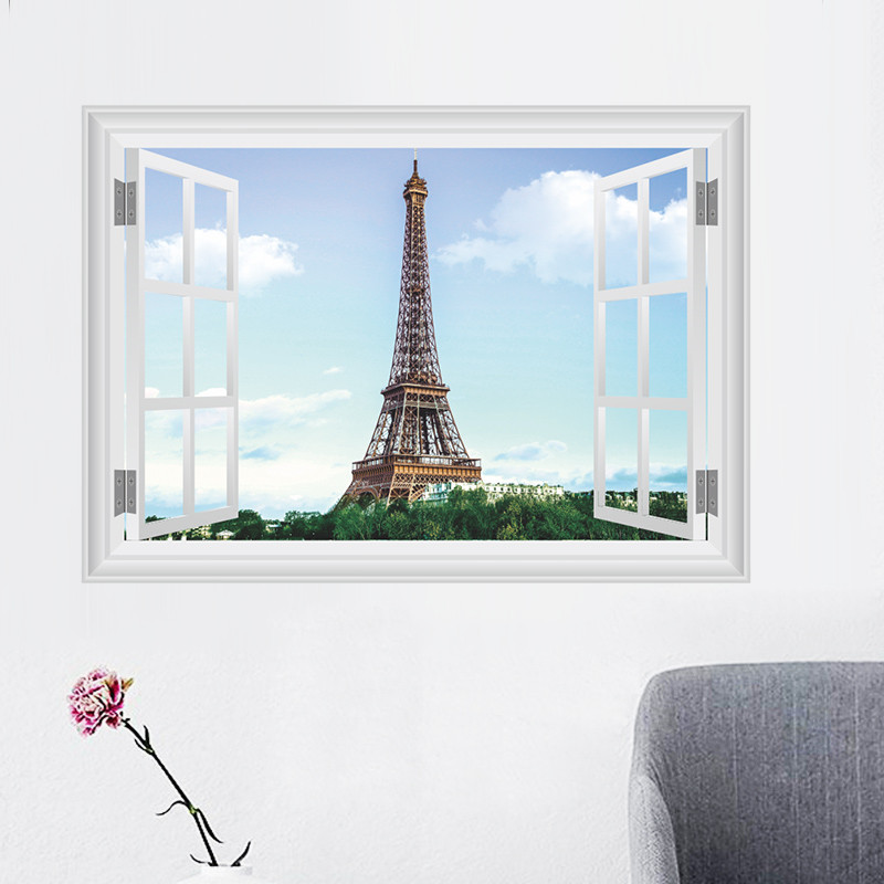 La Chine paysage arbres Style Home Decor Wall Art Decal Vinyl Sticker