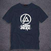 Fashion High Quality Printing T Shirts Linkin Park T Shirt 100 Cotton Short Sleeve Tee Round
