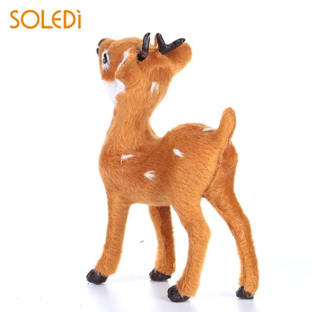 plush plastic xmas elk beautiful christmas reindeer standing simulated christmas decorations sika deer