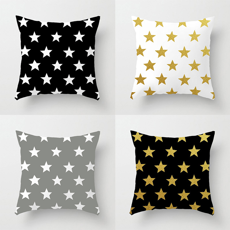 Star Style Soft Fabric Square Pillow Cover 40 40cm Home