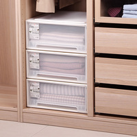plastic drawer storage box underwear storage cabinet finishing box 45 square