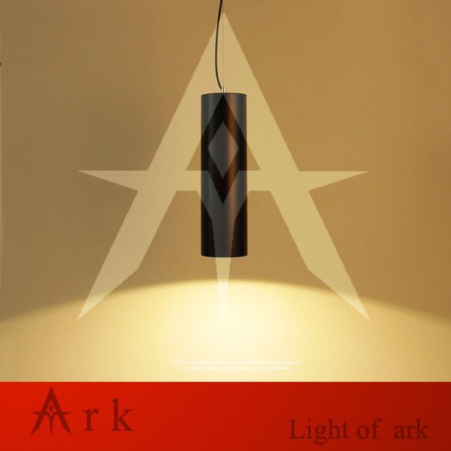 ARK LIGHT Dia 10cm Black Aluminum Cannular Warm Color Led Pendant Lamp TUBE Cylinder Shape LED