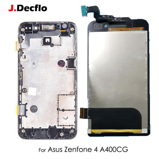 For ASUS Zenfone 4 A400CG LCD Display Touch Screen Digitizer With Frame Full Assembly Replacement Part Original 854*480 4''