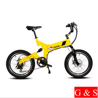 Super Light 20 Inches Folding Electric Li Ion Battery Bicycle Double Disc Brake Mountain Bike Variable